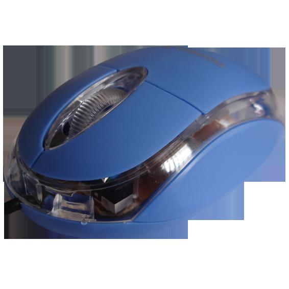 Miš optički,  800dpi, USB, plava boja