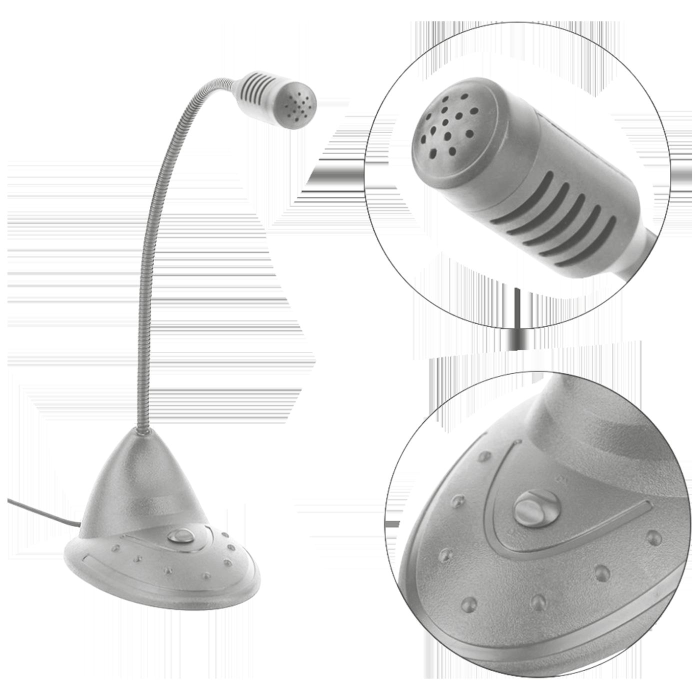 Mikrofon za PC sa postoljem, konekcija Jack 3,5mm