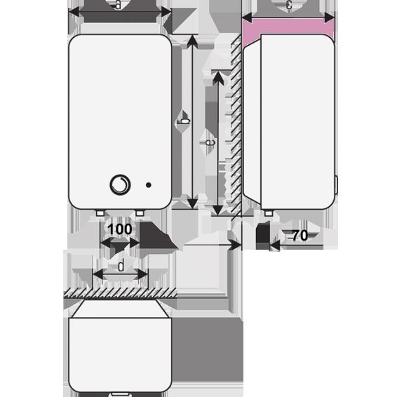 Niskotlačni bojler, 5l, 2000W