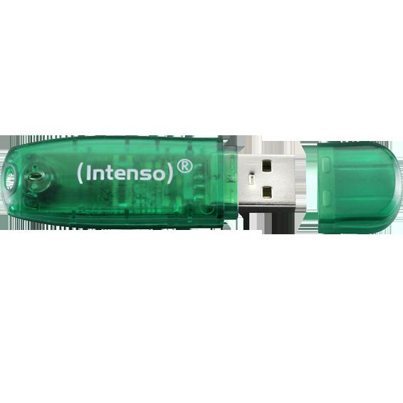 USB Flash drive 8GB Hi-Speed USB 2.0, Rainbow Line, ZELENI