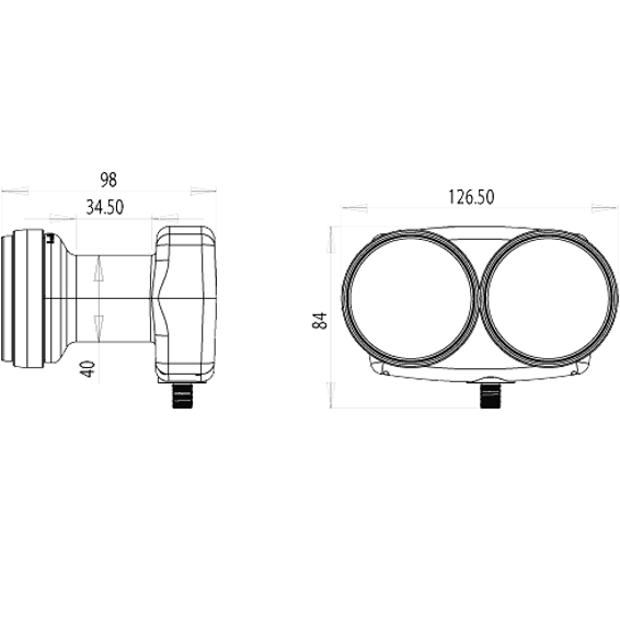 LNB,Monoblock 2 satelita na 1 prijemnik,raspon 6°,sum: 0.2dB