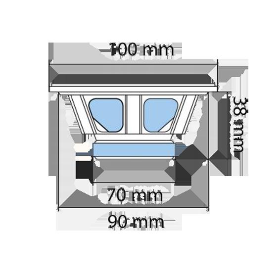 Auto zvučnici, set,  100mm , 2x45W, 4 Ohm