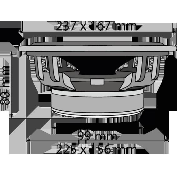Auto zvučnici, set,  2x120W, ovalni, 4 Ohm