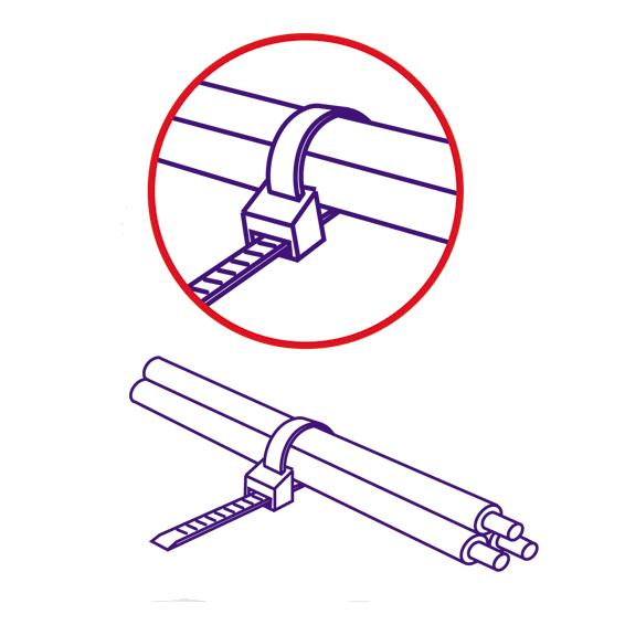 Plastične vezice 4,8mm x 250mm, pakiranje 25 kom. crna