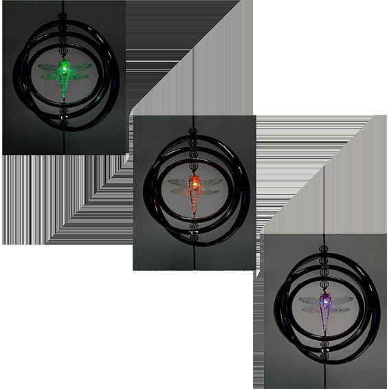 Solarna vrtna rasvjeta, viseći ukras, vilin konjic, 250 mAh