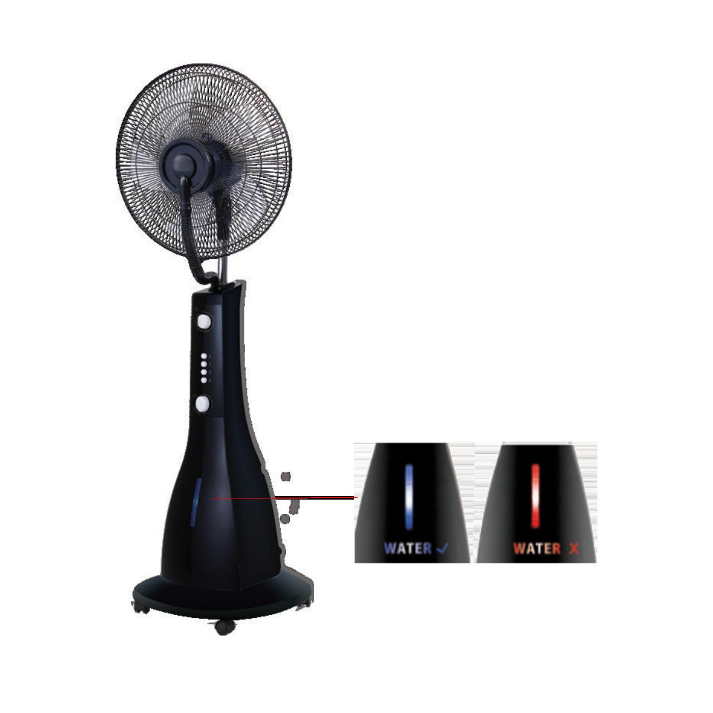 Ventilator sa raspršivačem vode, promjer 40 cm, 90 W, crna