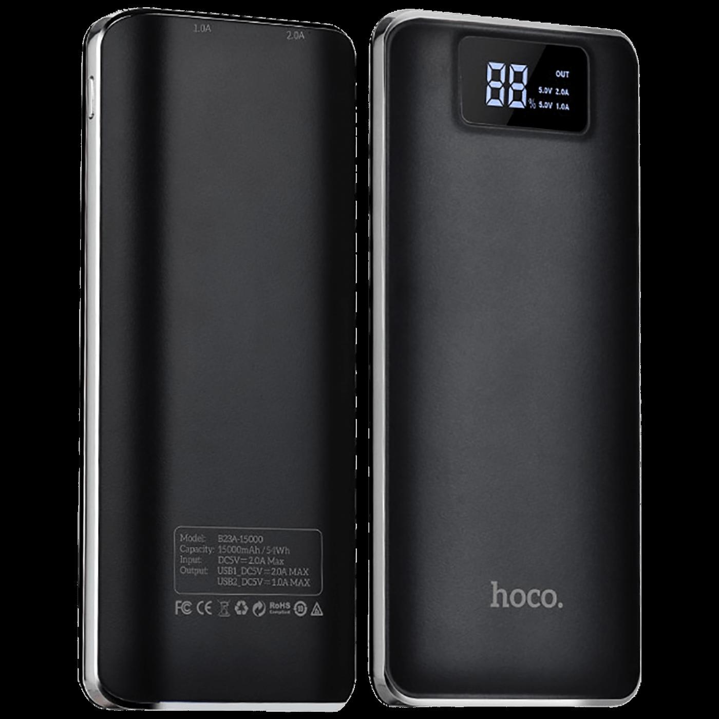 Punjač prijenosni za mobitele, 15000 mAh, 1 A/2.0 A, display
