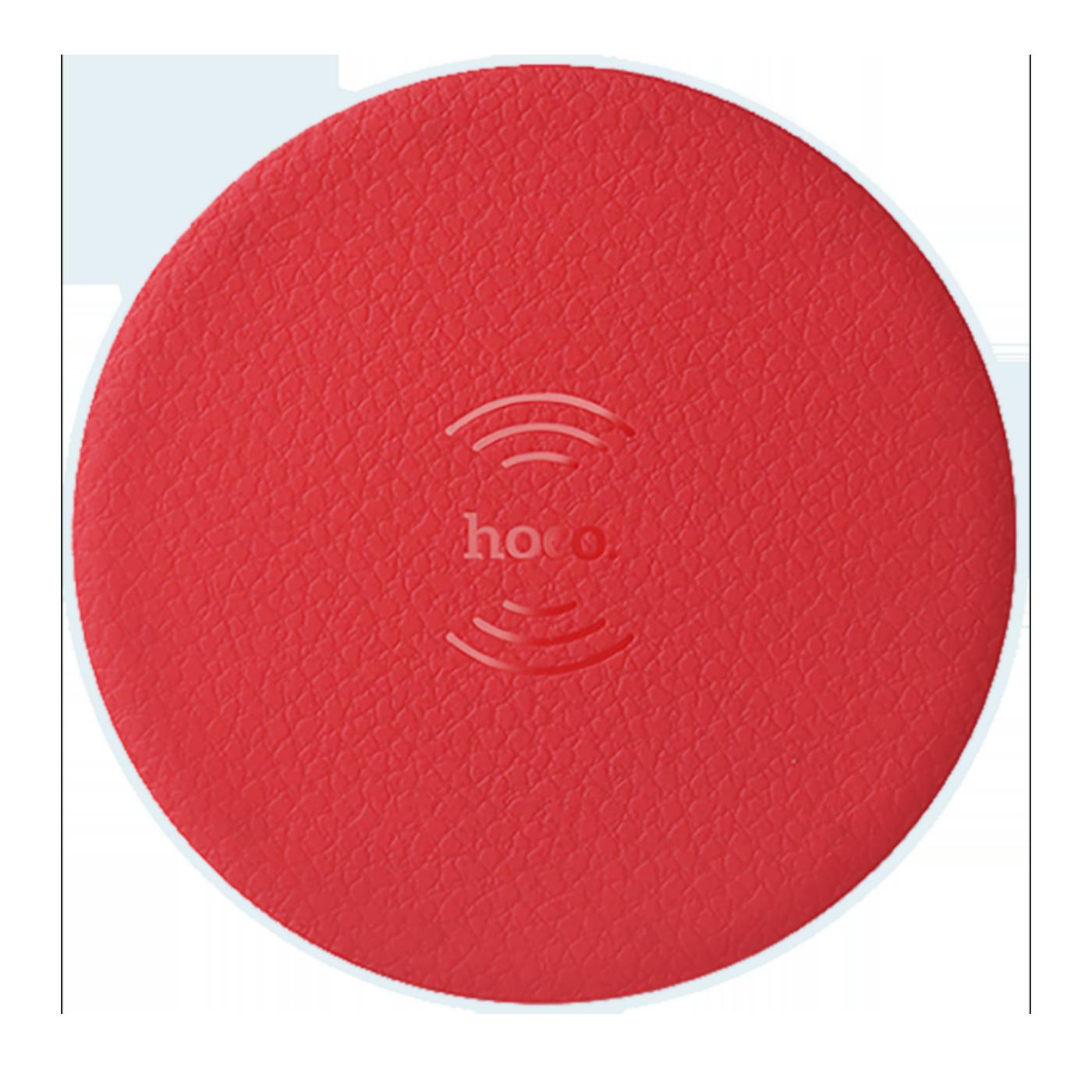 Punjač bežični, univerzalni, za smartphone, 5 W, crvena