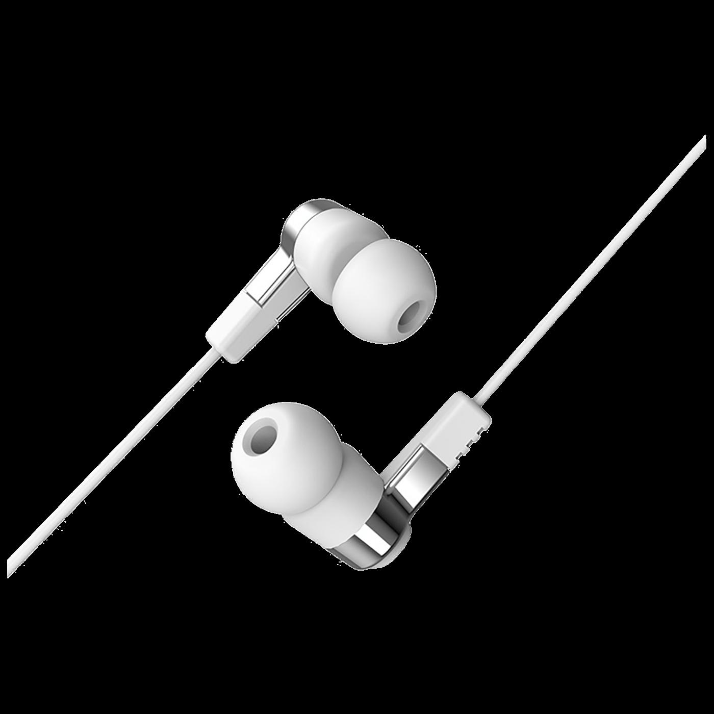 Slušalice sa mikrofonom, 3.5 mm,dužina kabela 1.2 met,bijela