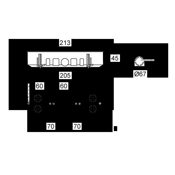 Razvodna kutija rigips trostruka 67x45, IP30