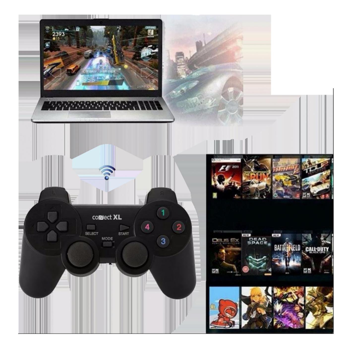 Gamepad wireless, 5u1, PC i PS1/2/3,  2,4GHz, 10met