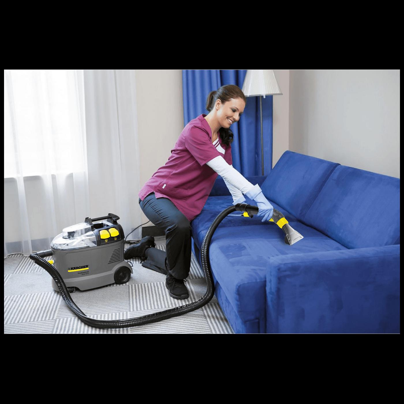 Usisavač za čišćenje tepiha, tekstilnih obloga, namještaja
