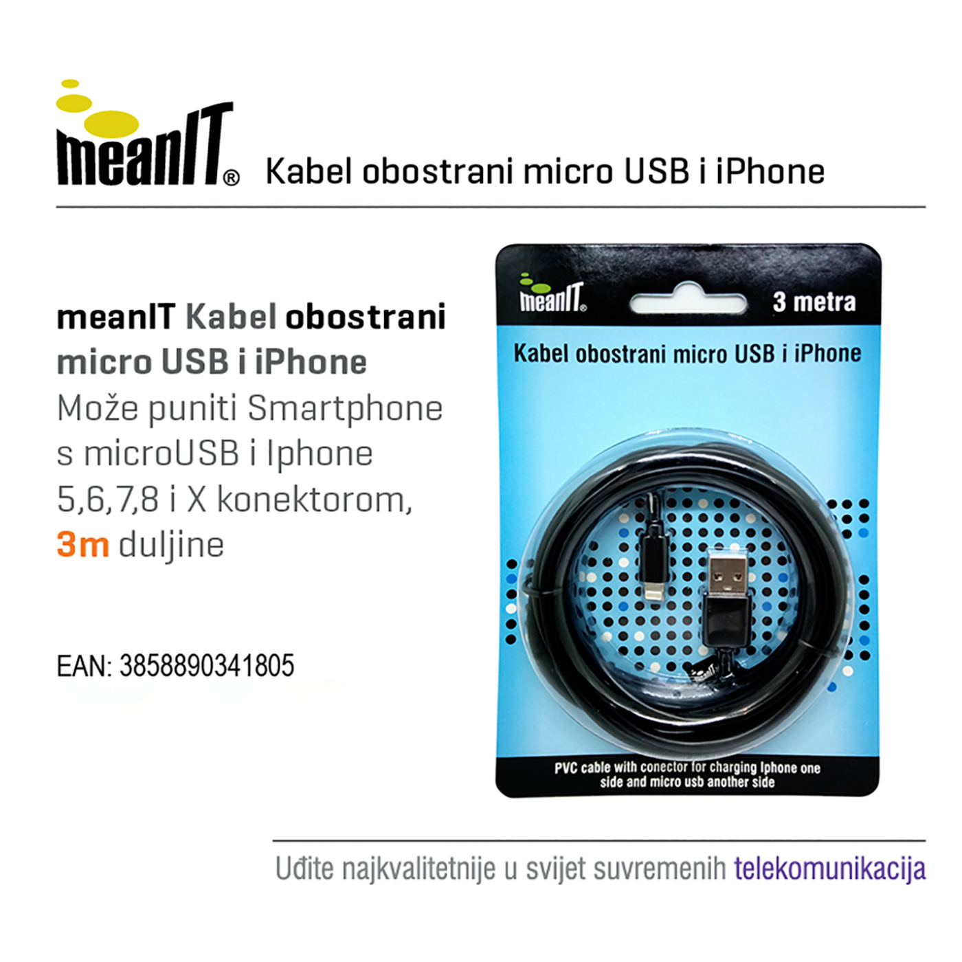 KABEL MICROUSB / iPHONE