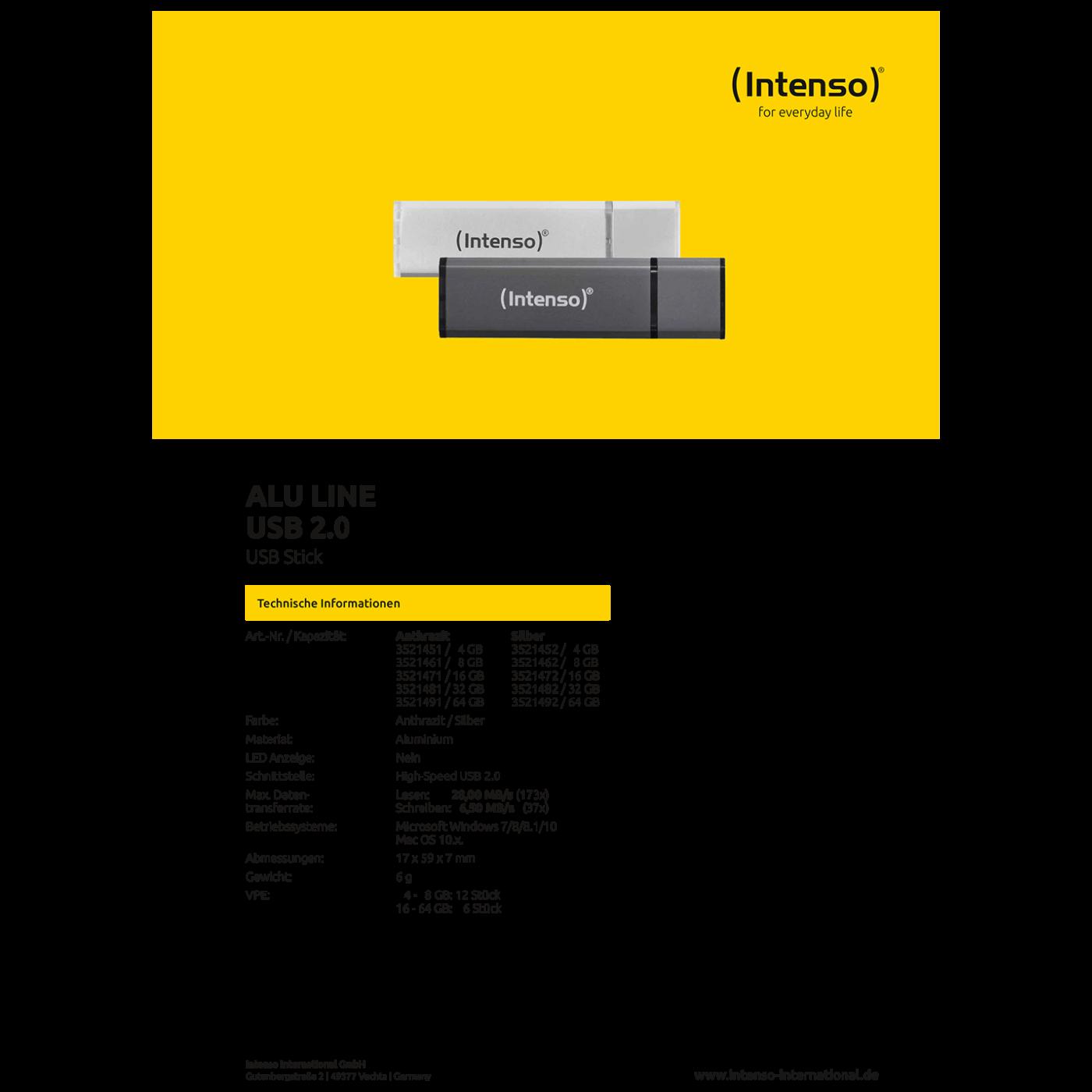 USB Flash drive 16GB Hi-Speed USB 2.0, ALU Line