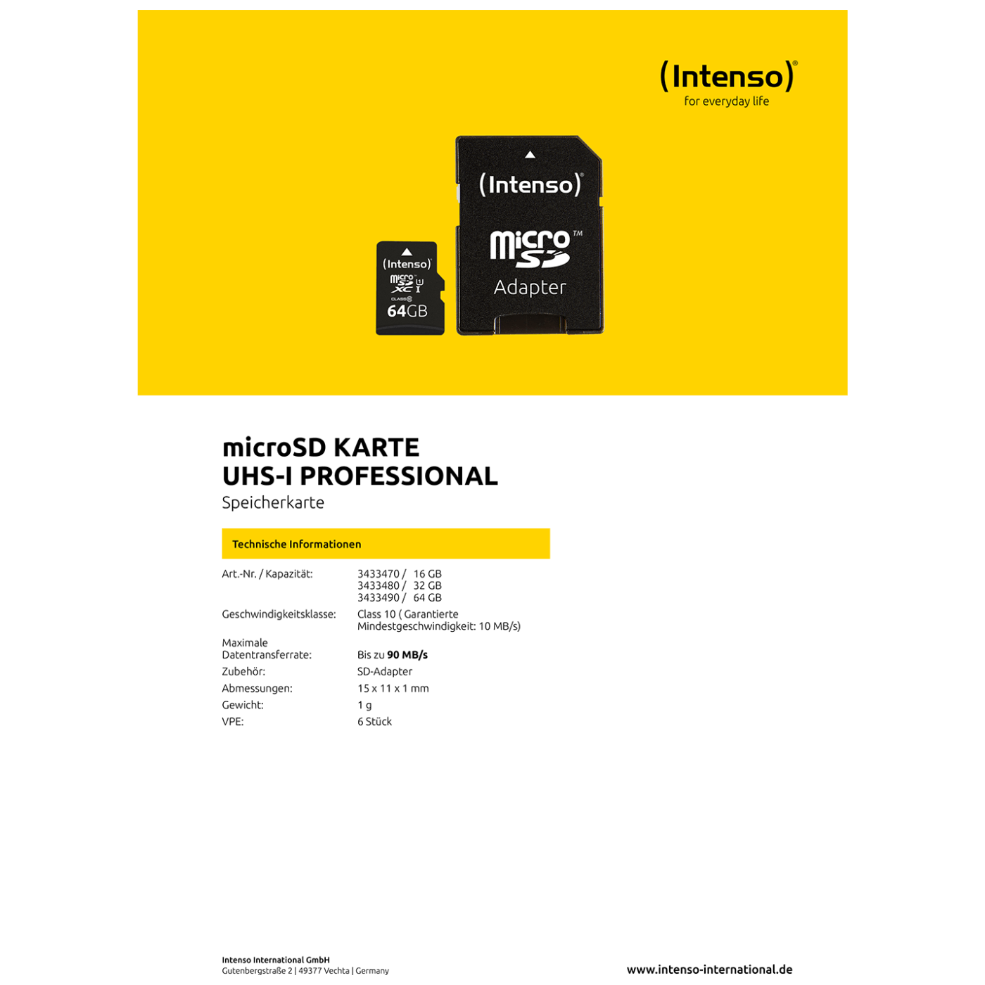 MicroSD 32GB Class10 UHS-I Pro