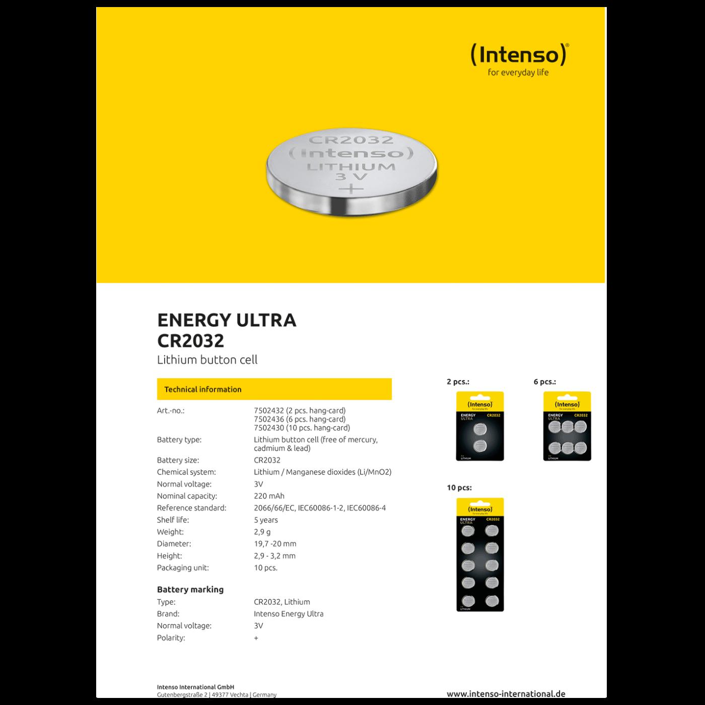 Baterija litijska, CR2032/2, 3 V, dugmasta, blister  2 kom