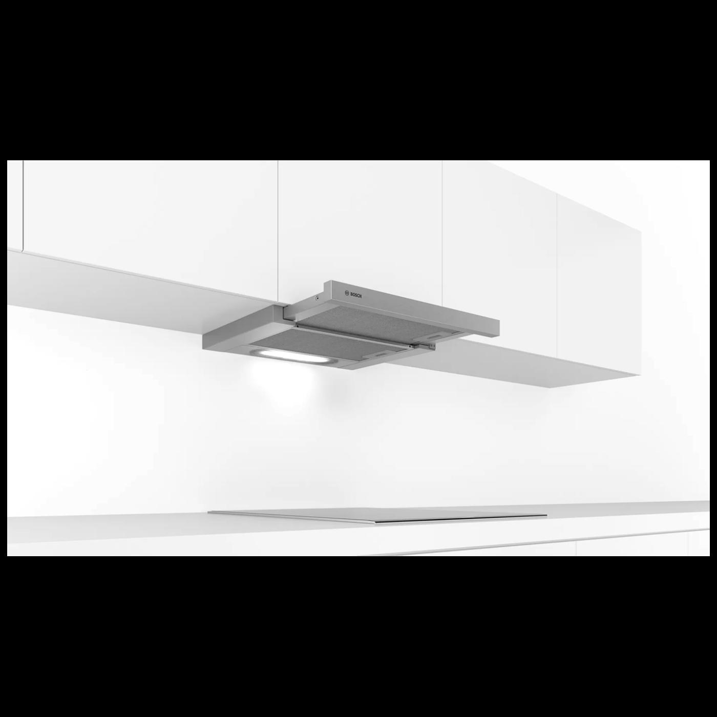 Kuhinjska napa, ugradbena, 146 W, boja siva