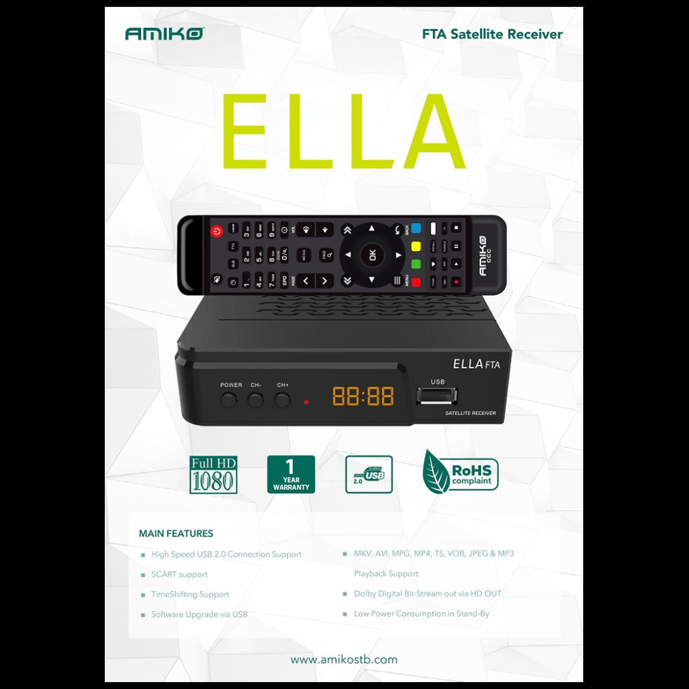 Prijemnik satelitski, DVB-S/S2, FTA, Full HD, H.265