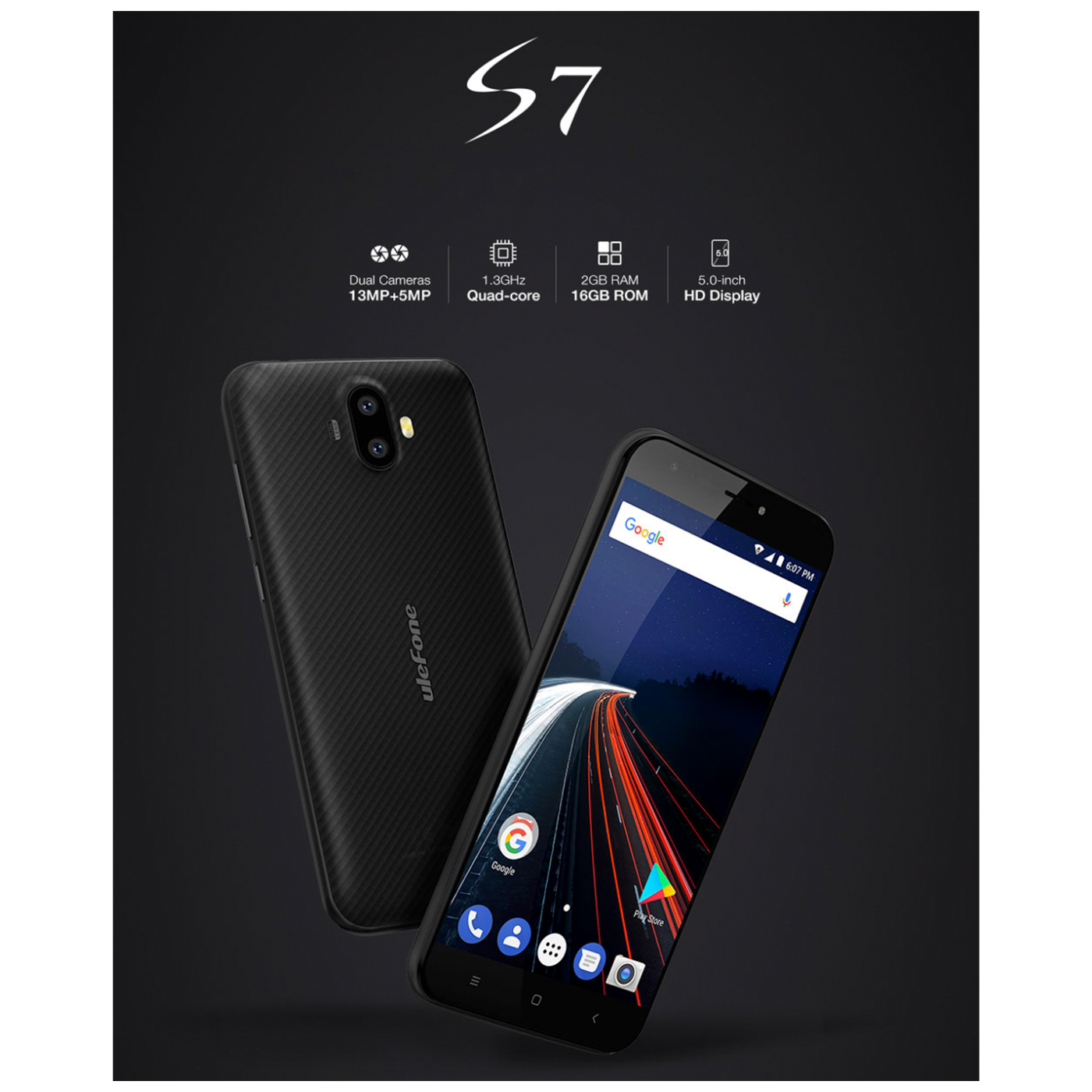 Ulefone S7 Black 2GB