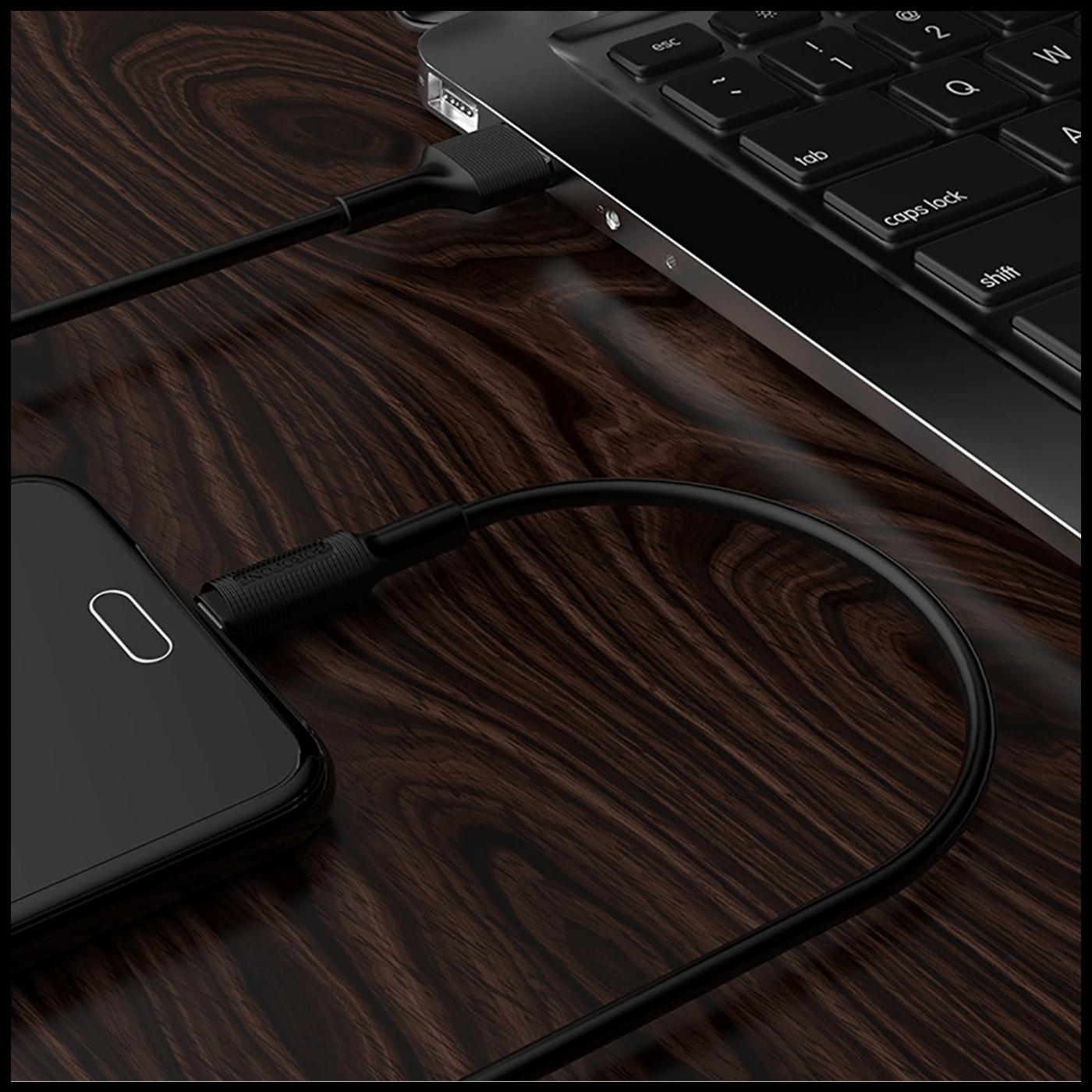 USB kabl za smartphone, micro USB kabl, 1 met., 2 A, crna