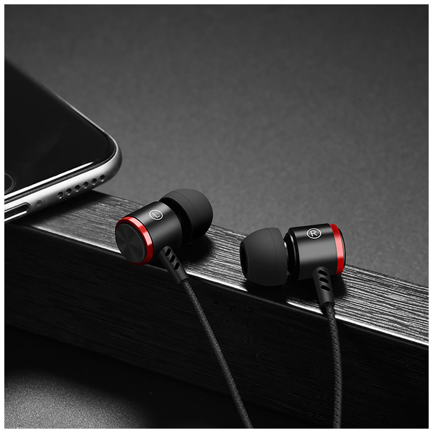 Slušalice sa mikrofonom, 3.5 mm, dužina kabela 1.2 met, crna