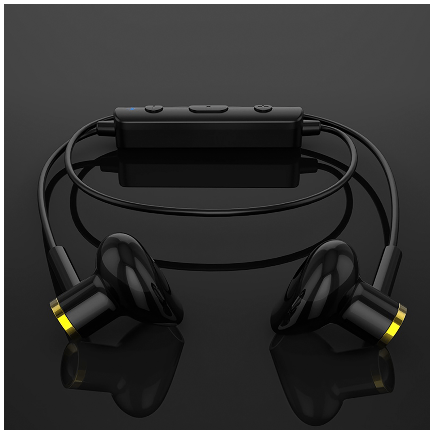 Slušalice bežična, sport, Bluetooth, 80 mAh, 3.5 h, crna