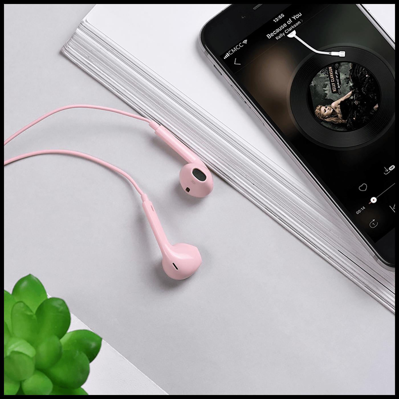 Slušalice sa mikrofonom, 3.5 mm, dužina kabela 1.2 met, pink