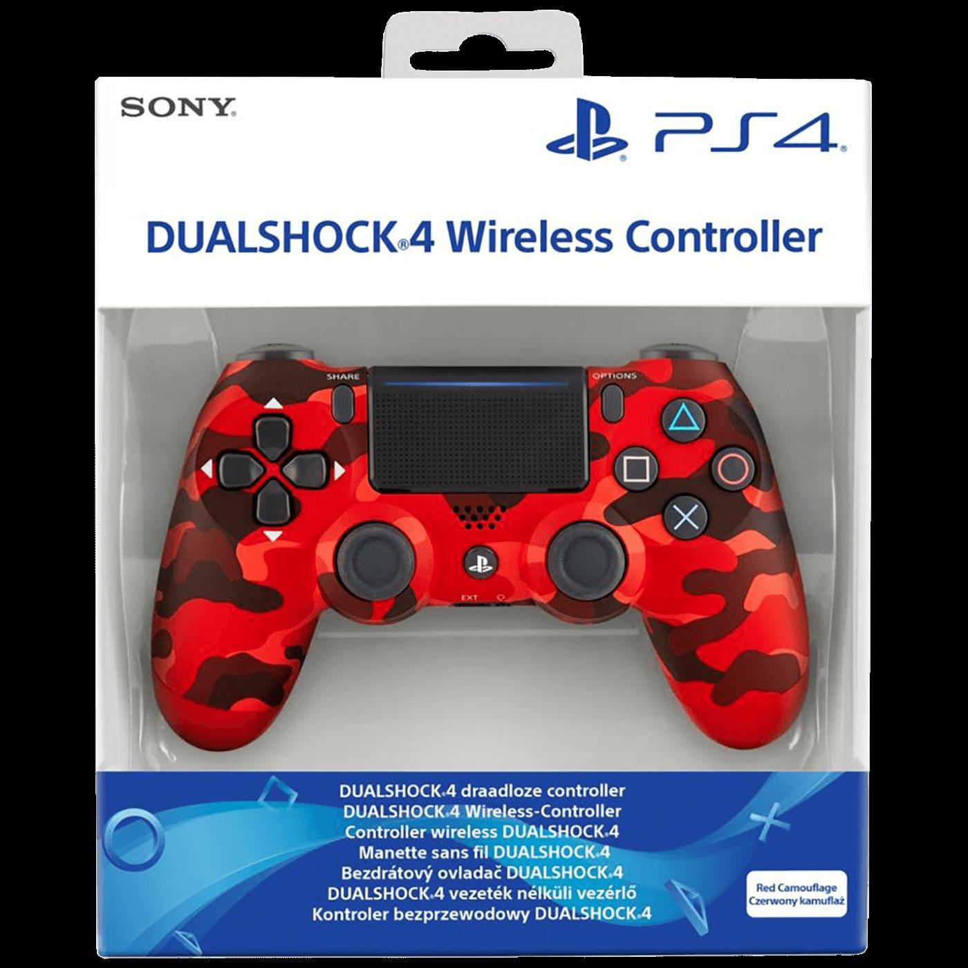 PS4 Dualshock Controller Red Camo