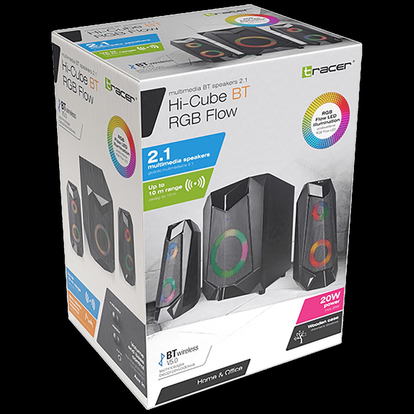 Zvučnici 2.1 sa RGB osvjetljenjem, Bluetooth