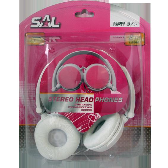 Slušalice, stereo, 3,5mm, sklopivo, bijelo/pink