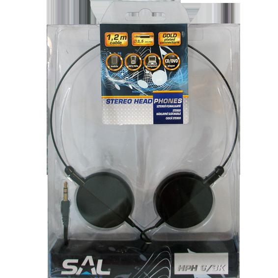 Slušalice, stereo, 3,5mm, okretljivi zvučnici, crne