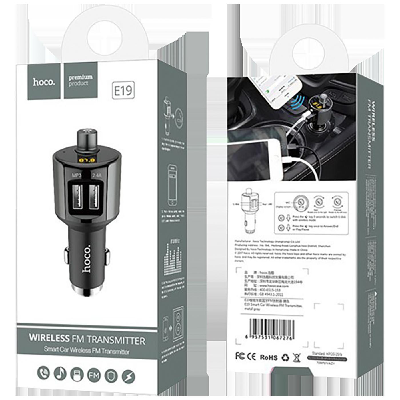 FM modulator, BT handsfree, 12 V/24 V, 2 x USB 2,4 A