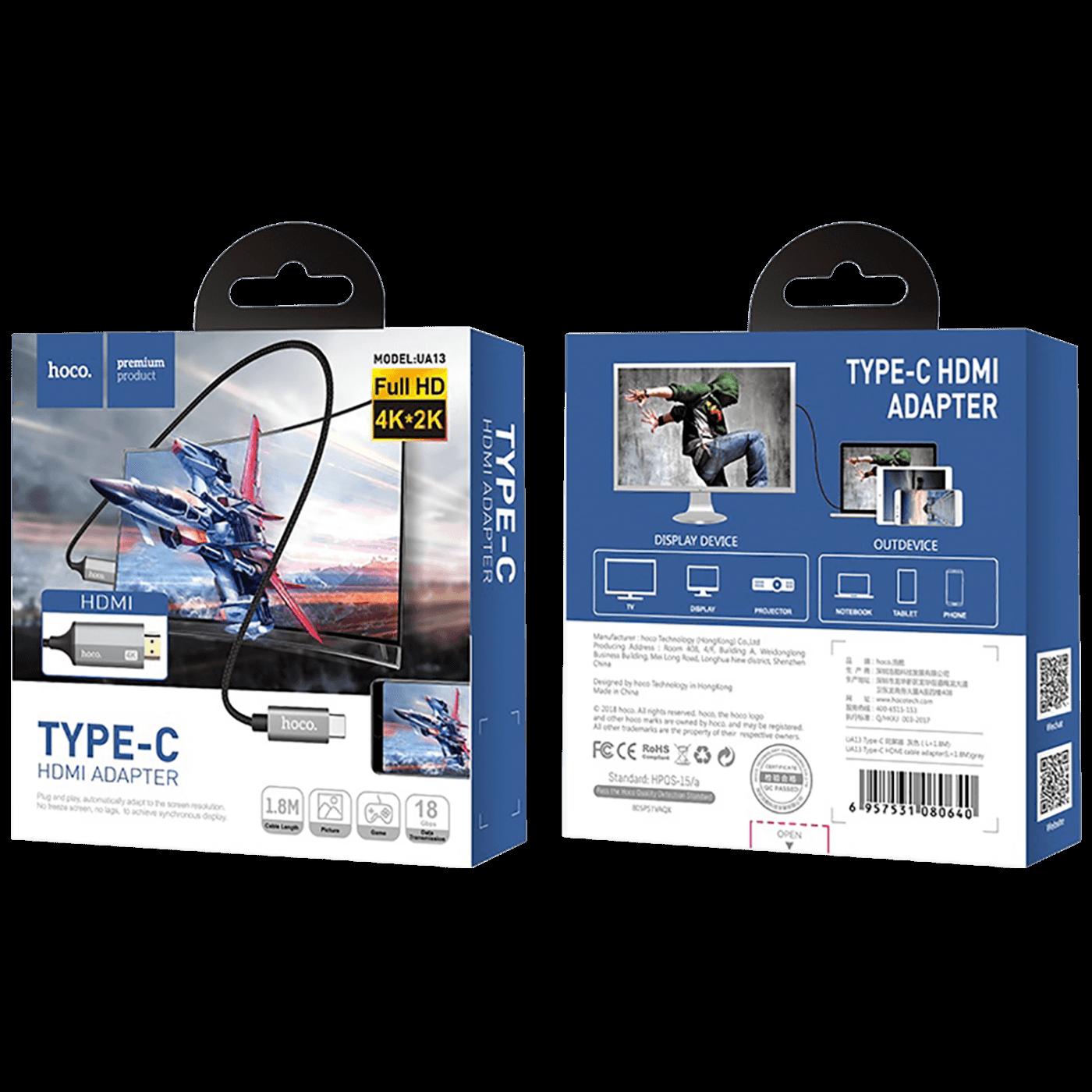 USB type C na HDMI kabl, 4K, 1.8 met