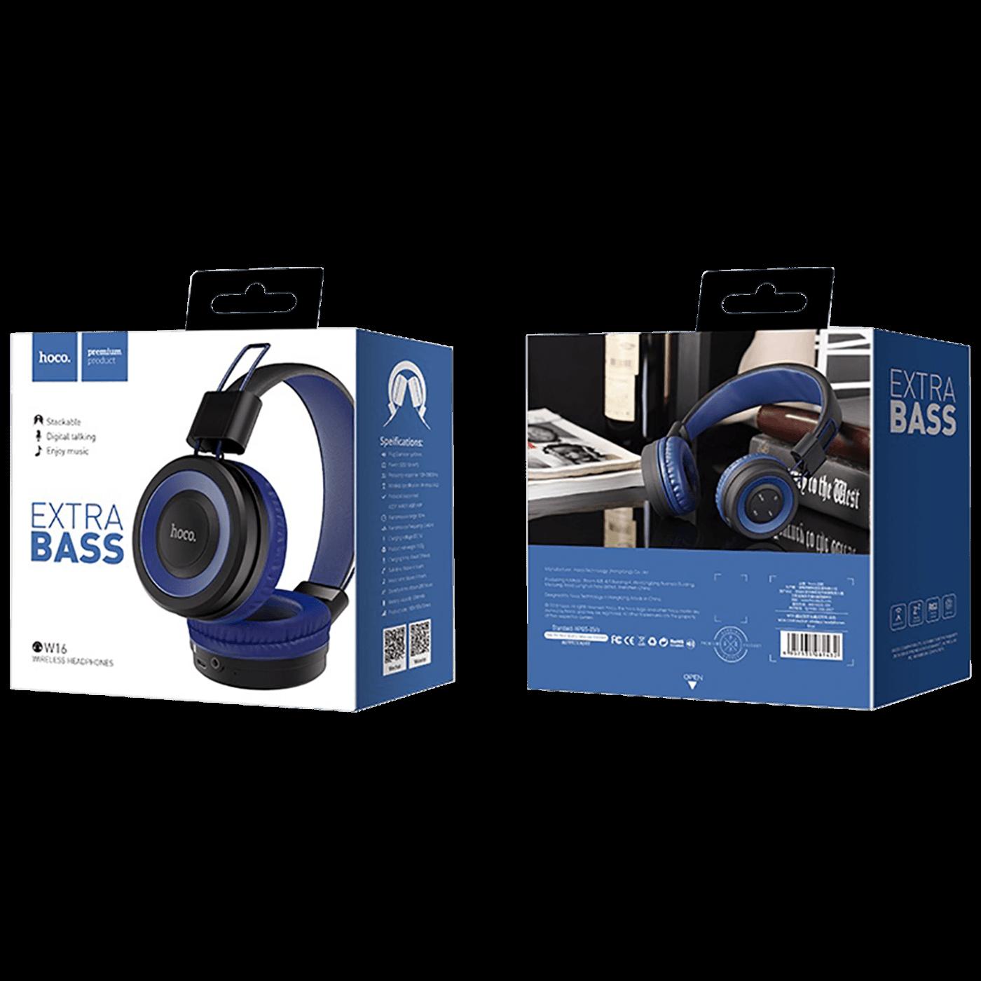 Slušalice bežične / žične, Bluetooth/ 3.5 mm,  plava