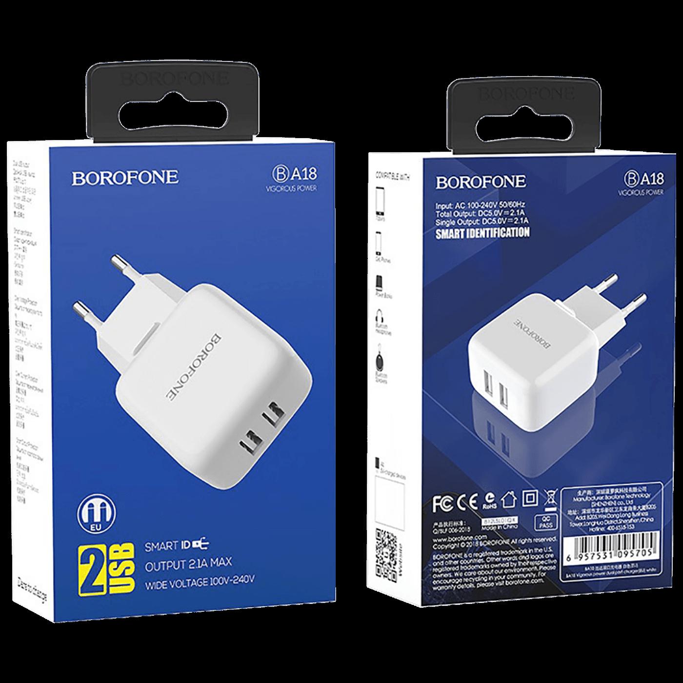 Punjač kućni, za smartphone, tablete..., 2 x USB, 2.1 A