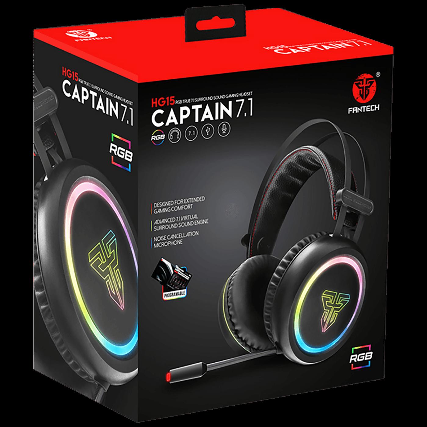 Slušalice sa mikrofonom, gaming, RGB, 7.1, USB