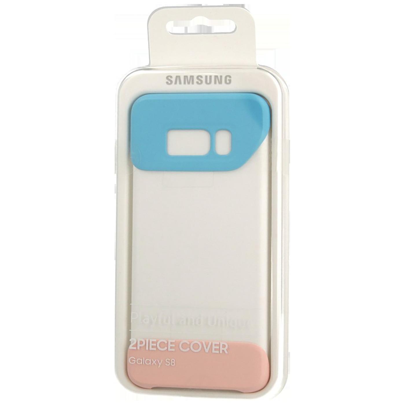 Silikonska futrola za Galaxy S8, plavo/breskva