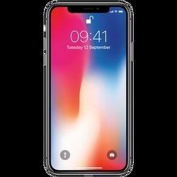 Apple - iPhone X 64GB Silver,MQAD2ZD/A