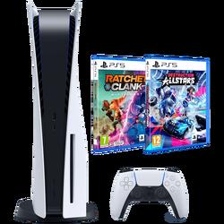 Igraća konzola PS5+Ratchet Rift Apart+Destruction AllStars