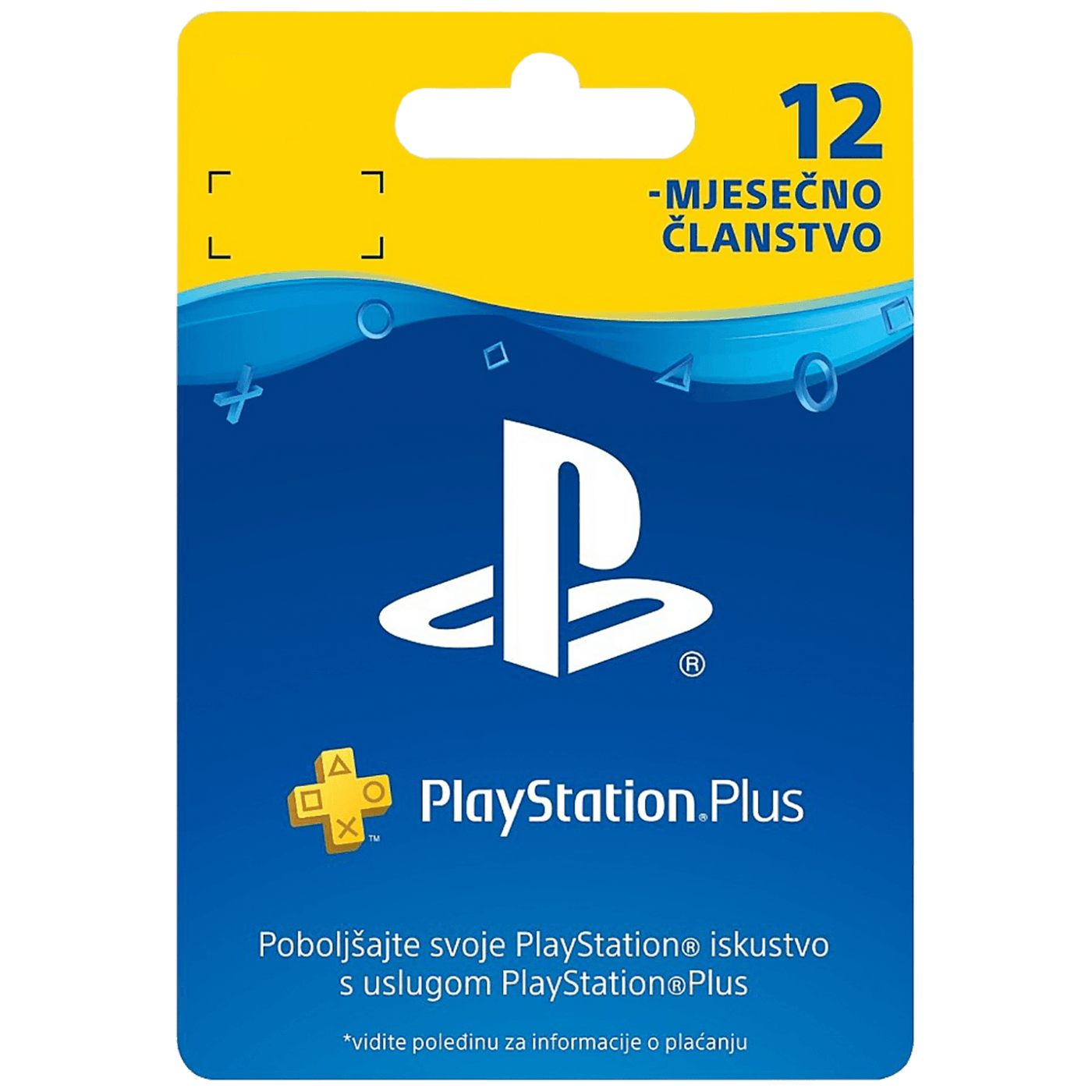 PS Plus Card 365 Days Hanger