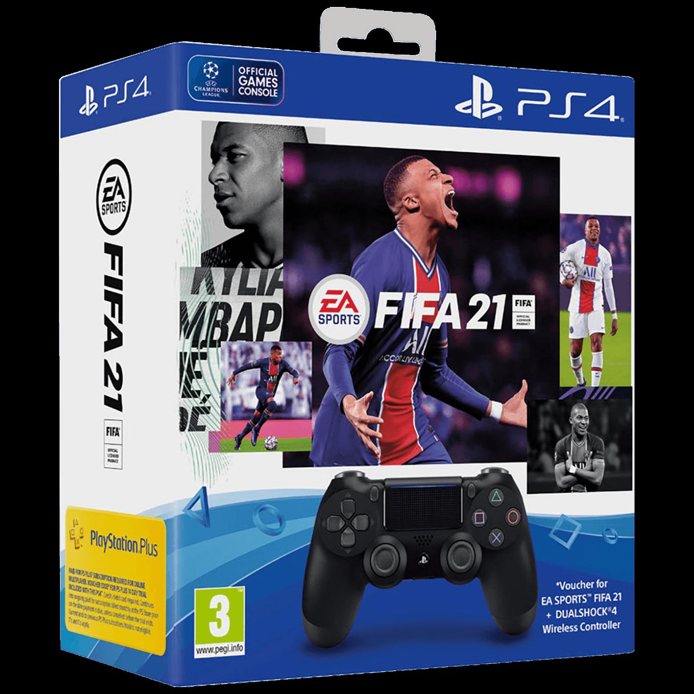 SET Dualshock Controller v2+FIFA 21+FUT VCH+PS Plus 14 dana