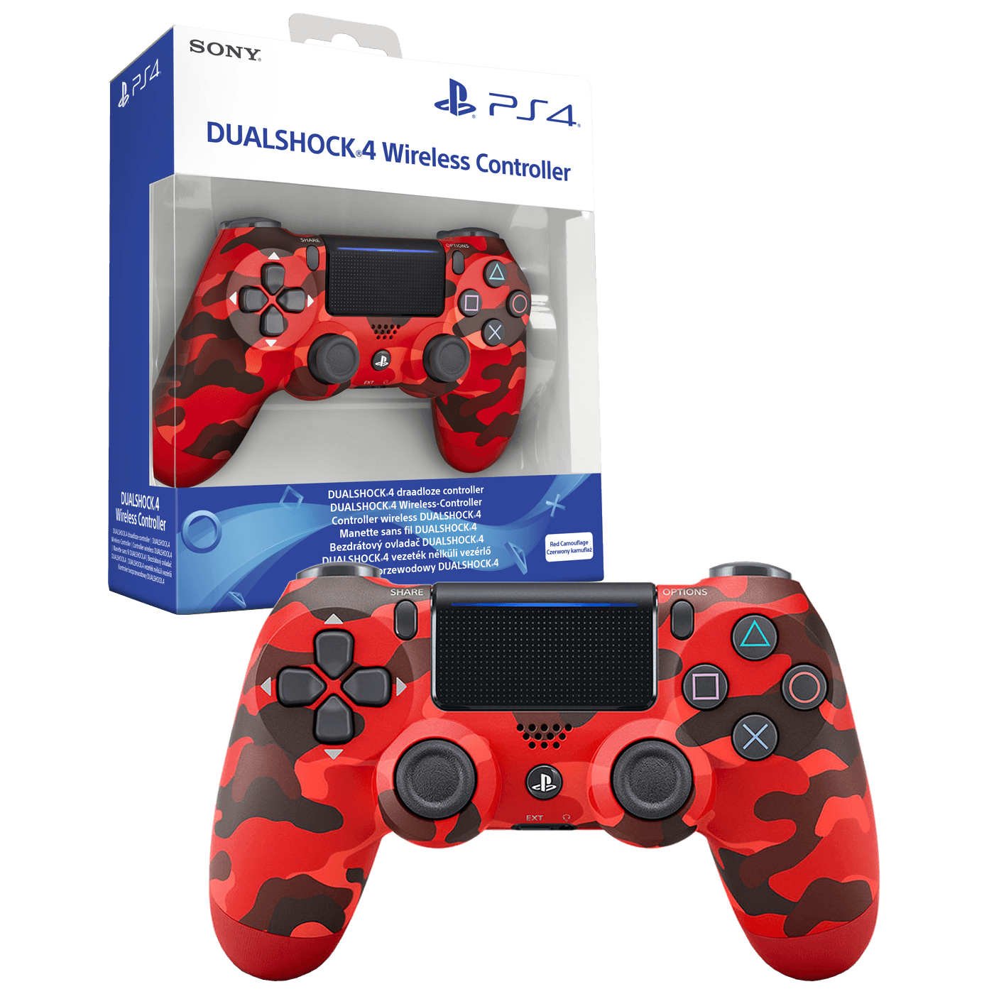 Sony - PS4 Dualshock Controller Red Camo