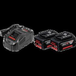 Punjač brzi 18 V, 2 x baterija GBA 18V 5.0Ah