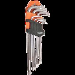 Ključ inbus torks, set 9/1, 1.5 - 10 mm