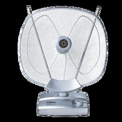 Antena sobna sa pojačalom, UHF/VHF, srebrna