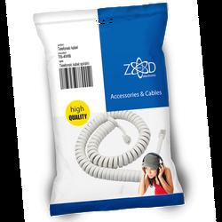 Telefonski kabl spiralni za slušalicu,dužina 4 metra,bijeli
