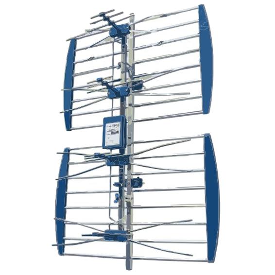 Antena mrežasta,UHF/VHF,sa pojačalom, aluminij, pak u kutiju