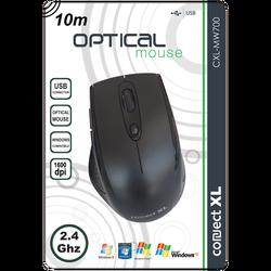Miš bežični,  2.4GHz, 1600dpi, crna boja