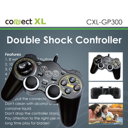 Gamepad za PC sa vibracijom, 14 tipki/tastera, Double Shock