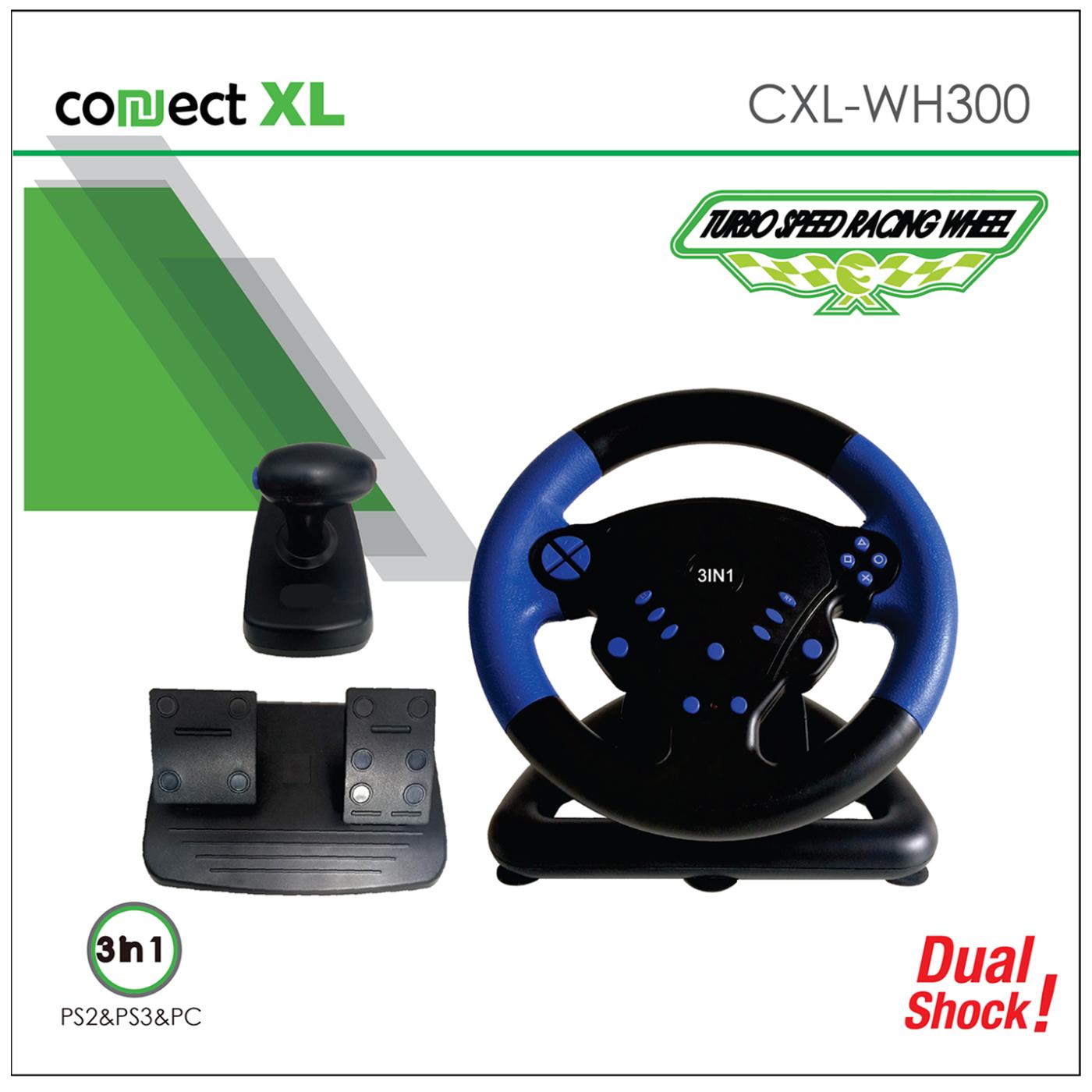Gaming volan 3u1, PS2/PS3/PC, vibracija, pedale